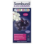 Sambucol Black Elderberry Immune System Support Liquid For Kids, Berry- 4 fl oz