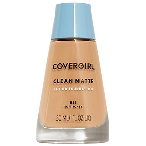 CoverGirl Clean Oil Control Liquid Makeup, Soft Honey 555- 1 fl oz