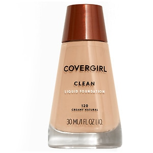 CoverGirl Clean Liquid Foundation for Normal Skin, Creamy Natural 120, 1 fl oz