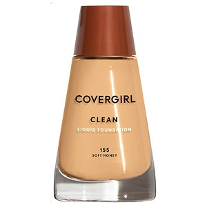 CoverGirl Clean Liquid Foundation for Normal Skin, Soft Honey 155, 1 fl oz