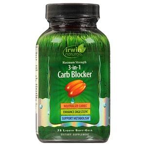 Irwin Naturals Maximum Strength 3-in-1 Carb Blocker- 75 liquid softgels