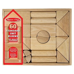 Melissa and Doug Standard Unit Blocks Ages 2 and up- 1 ea