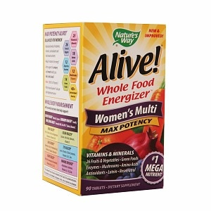 Nature's Way Alive! Whole Food Energizer Women's Multi Max Potency, Tablets- 90 ea