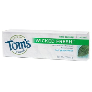 Tom's of Maine Wicked Fresh! Natural Fluoride Toothpaste, Cool Peppermint