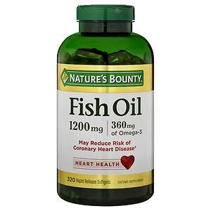 Nature's Bounty Fish Oil, 1200mg, Softgels- 320 ea