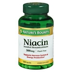 Nature's Bounty Flush Free Niacin Inositol Hexanicotinate 500 mg