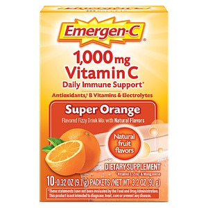 Emergen-C 1000 mg Vitamin C Travel Box, Orange- 10 ea