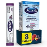 Pedialyte Oral Electrolyte Powder, Assortment- 8 ea