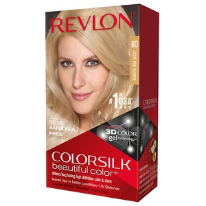 Revlon Colorsilk Beautiful Color, Light Ash Blonde 80- 1 application