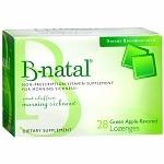 B-natal Morning Sickness Lozenges, Green Apple- 28 ea