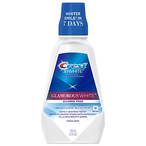 Crest 3D White Luxe Glamorous White Multi-Care Whitening Mouthwash , Fresh Mint