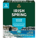 Irish Spring Deodorant Bath Bar , 3.75 oz, Clean Scrub