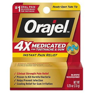 Orajel Instant Pain Relief  for Severe Toothache, Cooling Gel- .25 oz