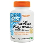 Doctor's Best High Absorption 100% Chelated Magnesium, Tablets- 240 ea