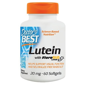 Doctor's Best Free Lutein Featuring FloraGlo, 20mg, Softgels- 60 ea