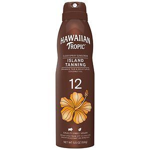 Hawaiian Tropic Tanning Dry Oil Clear Spray Sunscreen, SPF 12