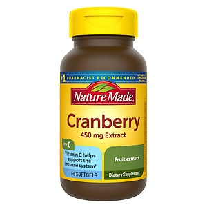 Nature Made Cranberry 450mg Extract with Vitamin C, Softgels- 60 ea