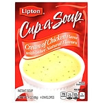 Lipton Cup-A-Soup, Cream of Chicken- 4 pack