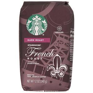 Starbucks Dark Roast, French Roast, Ground
