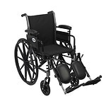 Cruiser III Light Weight Wheelchair, 16 inch Detachable, Height Adjustable Desk Arms, Black