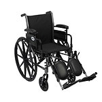 Cruiser III Light Weight Wheelchair, 20 inch Detachable, Height Adjustable Desk Arms, Black