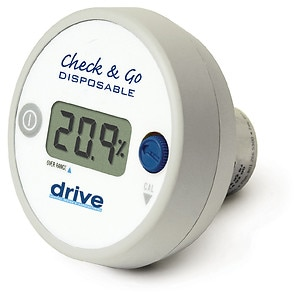 Drive Medical O2 Analyzer with 3 Digit LCD Display- 1 ea