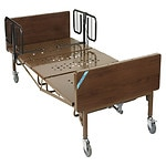 Drive Medical Full Electric Heavy Duty  Bariatric Hospital Bed with T Rails, 750 pound limit- 1 ea