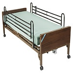 Drive Medical Delta Ultra Light Semi Electric Bed with Full Rails and Innerspring Mattress- 1 ea