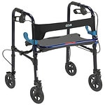 Drive Medical Clever Lite Rollator Walker, 8 Inch Casters, Flame