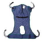 Drive Medical Full Body Patient Lift Sling with Commode Cutout Option, X Large