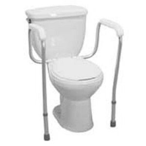 Drive Medical Toilet Safety Frame, White- 1 ea