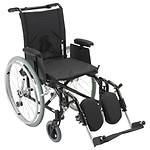 Drive Medical Cougar Ultra Lightweight Wheelchair w Detachable Adj Desk Arms and Leg Rest, 16 Inch- 1 ea
