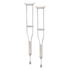 Drive Medical Walking Crutches with Underarm Pad and Handgrip, Pediatric