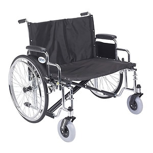 Drive Medical Sentra EC Heavy Duty Extra Wide Wheelchair with Detachable Desk Arms, 30 inch