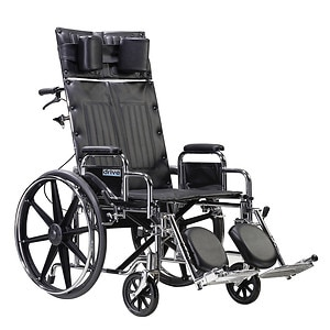 Drive Medical Sentra Reclining Wheelchair with Detachable Desk Arms, 22 inch
