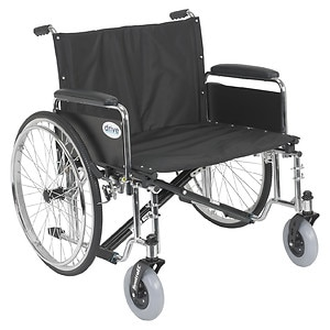 Drive Medical Sentra EC Heavy Duty Extra Wide Wheelchair with Detachable Full Arms, 26 inch