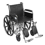 Drive Medical Sentra EC Heavy Duty Wheelchair with Detachable Full Arms and Elevating Leg Rest, 20 inch- 1 ea