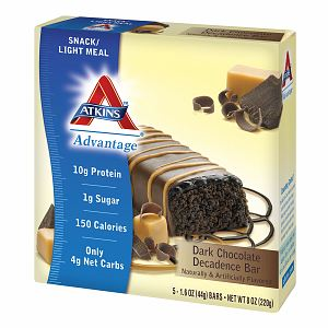 Atkins Advantage Snack Bars, 5 pk, Dark Chocolate Decadence, 1.6 oz