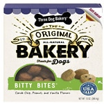 Three Dog Bakery Bitty Bites Oven Baked Treats, Assorted- 13 oz