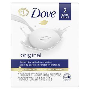 Dove Beauty Bar, 2 pk, White
