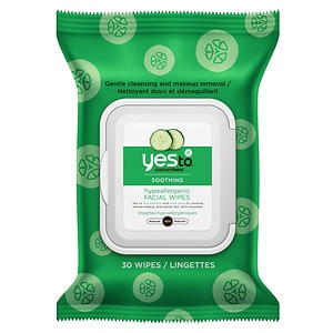 Yes to Cucumbers Hypoallergenic Facial Towelettes- 30 ea