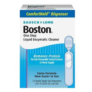 Boston One Step Liquid Enzymatic Cleaner, 12 dispensers- .01 oz
