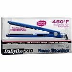 BaByliss PRO Nano Titanium Ionic Straightening Iron, 1 1/4