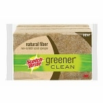 Scotch-Brite Greener Clean Natural Fiber Scrub Sponge- 3 ea
