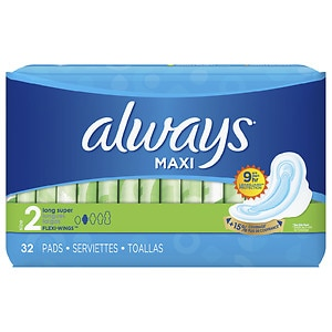 Always Maxi Pads, Super with Flexi-Wings- 32 ea