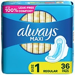 Always Maxi Pads, Regular with Flexi-Wings