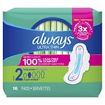Always Ultra Thin Pads, Long Super with Flexi-Wings- 16 ea