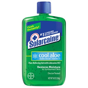 Solarcaine Cool Aloe Burn Relief Formula Pain Relieving Gel with Lidocaine HCI