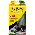 FUTURO Revitalizing Trouser Socks for Women, Moderate, Large, Black- 1 pr