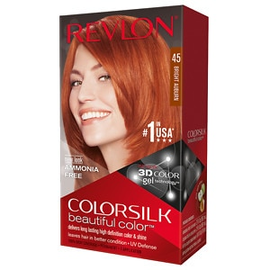 Revlon Colorsilk Beautiful Color, Bright Auburn 45- 1 application